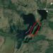 Satellite image of Lake Massawepie showing the esker deposit. Map data: Google