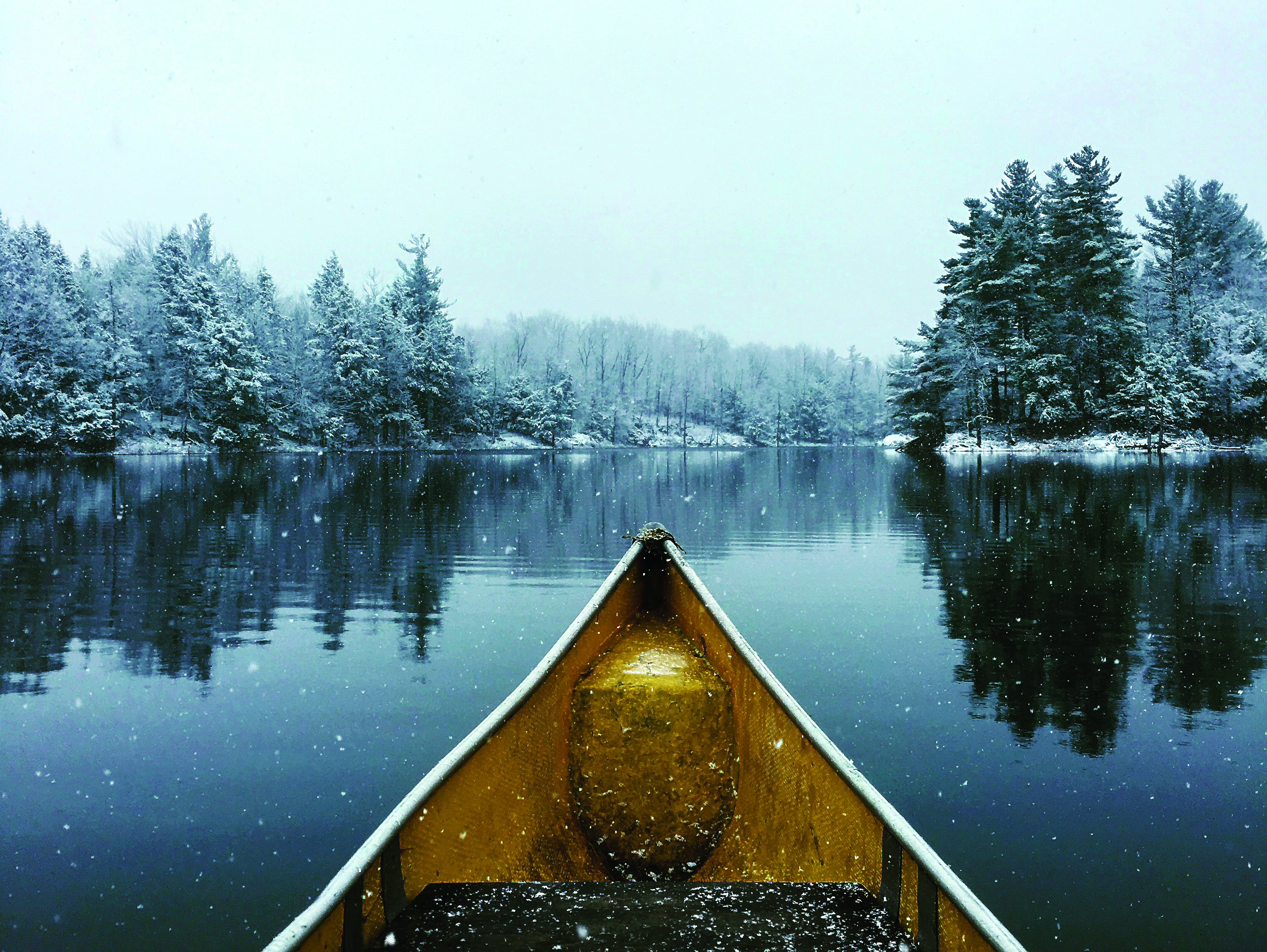Snowy Paddle by Fred Nentwick