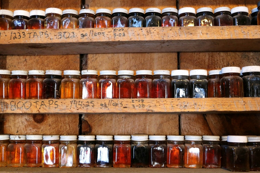 Finished syrup comes in many colors.