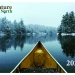 2020 Calendar Cover, snowy paddle by Fred Nentwick