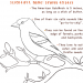 American Goldfinch Coloring Page
