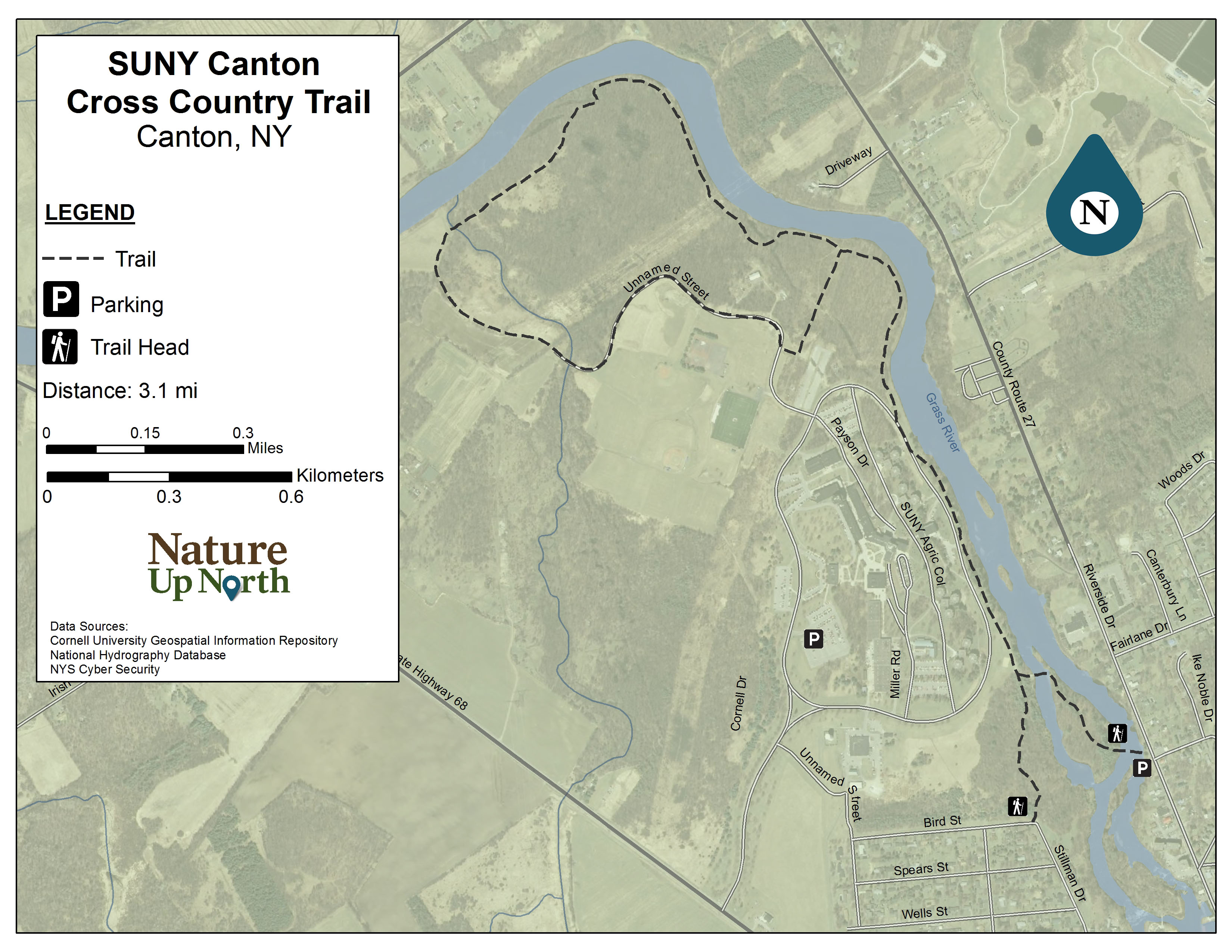 suny canton cross country trail nature up north